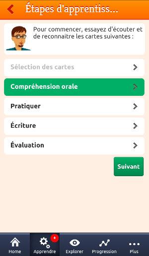 MosaLingua - apprentissage