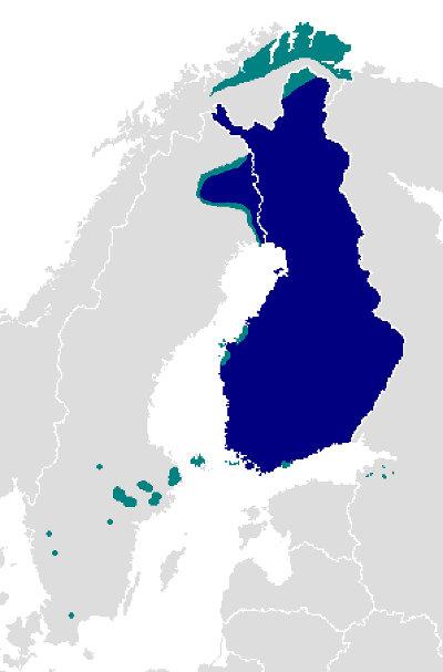 Répartition du finnois