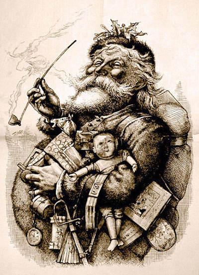Le Père Noël par Thomas Nast