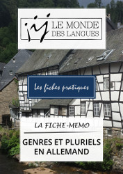 Fiche-mémo - genres et pluriels allemands
