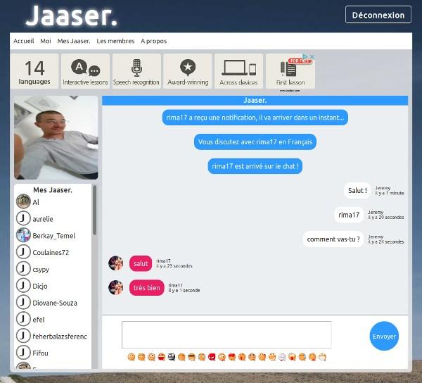 Jaaser - Messagerie instantanée