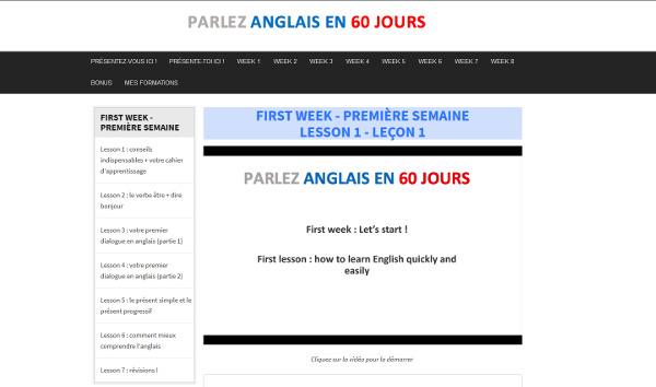 Parler anglais - Leçons